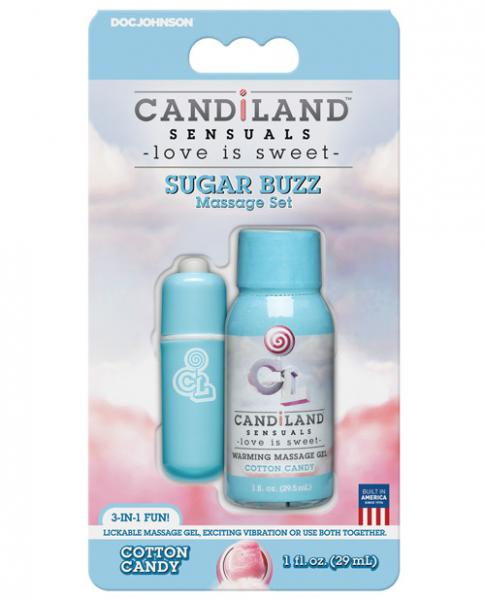 Candiland Sugar Buzz Massager Set - Cotton Candy