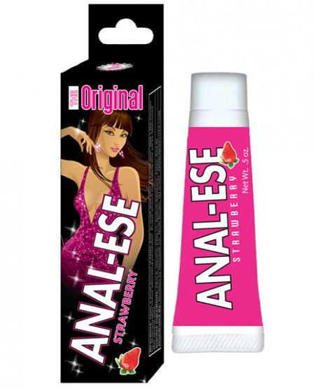 Anal-Ese Soft Packaging - .5 oz Strawberry