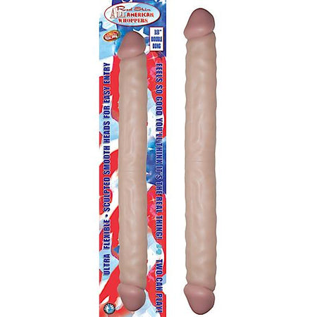 "Real Skin All American Whoppers 18"" Double Dong - Flesh"