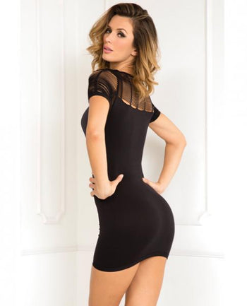 Rene Rofe Sexy Sophisticated Seamless Dress Black S/M