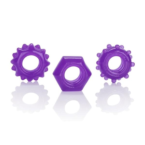 Reversible Ring Set - Purple Pack of 3