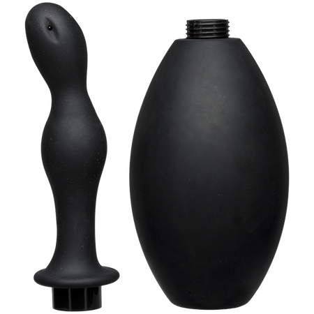 Kink Flow Silicone Anal Douche & Accessory - Black