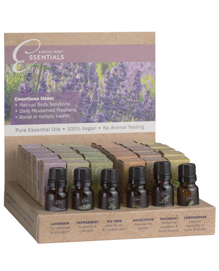 Earthly Body Pure Essential Oils Display - Asst. Scents Display of 36