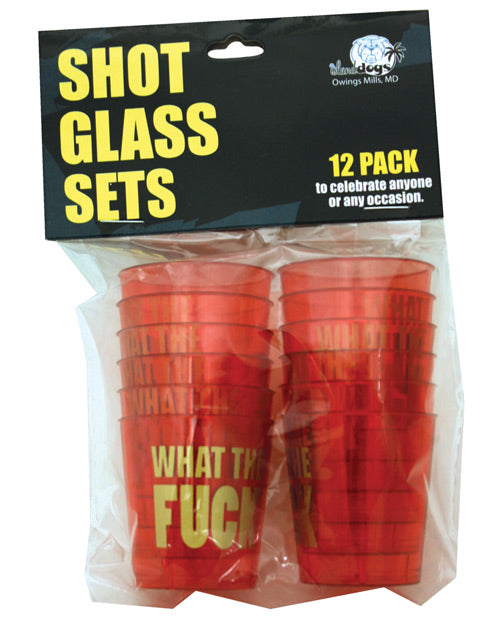What the Fuck Shot Glass Set - Pack of 12