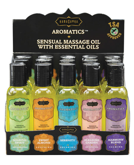 Kama Sutra Aromatics Massage Oil Display - 2 oz Display of 15