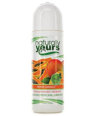 Naturally Yours Flavored Lubricant - 4 oz Papaya Mango