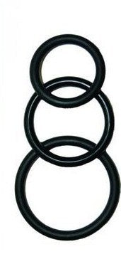Super Silicone Cock Rings Waterproof - Black
