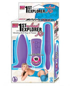 My 1st Anal Explorer Kit Vibrating Butt Plug and Please - Purple