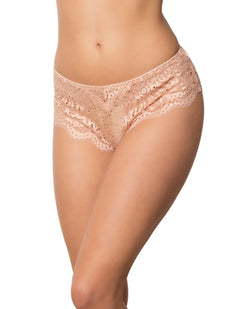 Lace Scalloped Tanga Panty Evening Sand XL