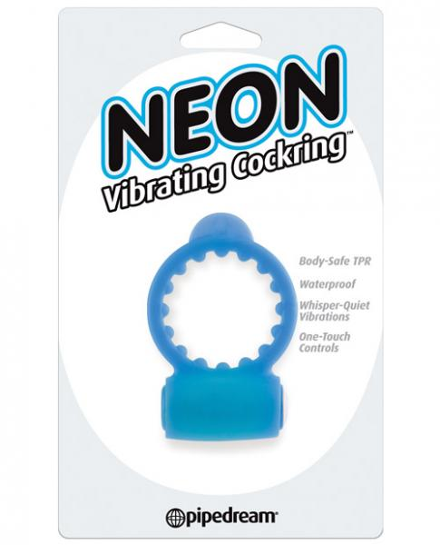 Neon Luv Touch Vibrating Cockring - Blue