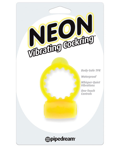 Neon Luv Touch Vibrating Cockring - Yellow