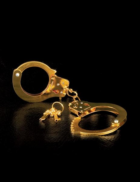 Fetish Fantasy Gold Metal Cuffs - Gold