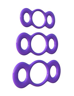 Fantasy C-Ringz 3-Ring Quick Release Trainer Set - Purple