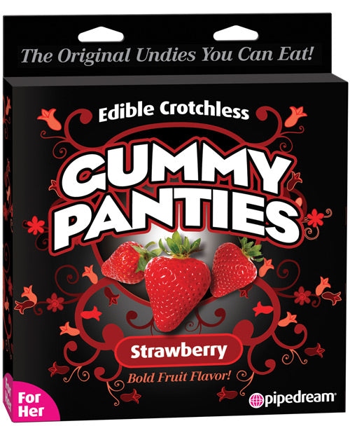 Edible Crotchless Gummy Panty - Strawberry