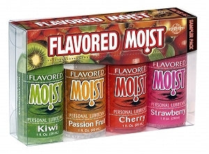 Flavored Moist Sampler - Pack of 4