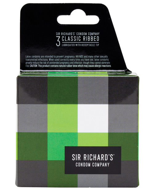 Sir Richard's Classic Ribbed Condom - Pack of 3