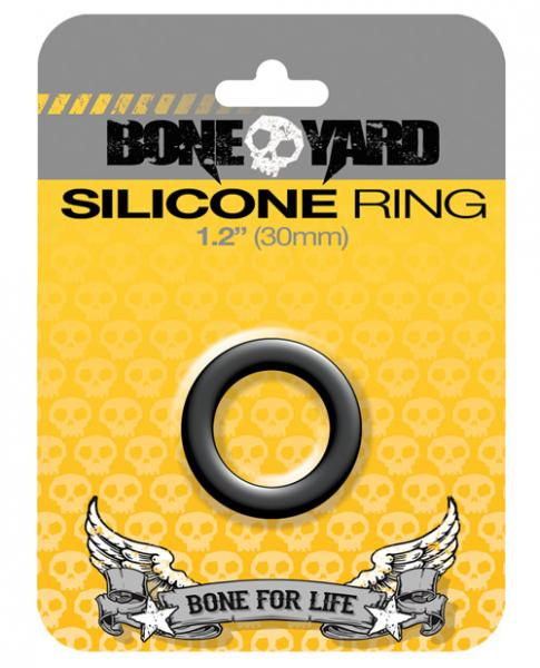 "Boneyard 2.0"" Silicone Ring - Black"