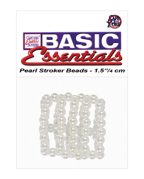 Basic Essentials Pearl Stroker Beads Small