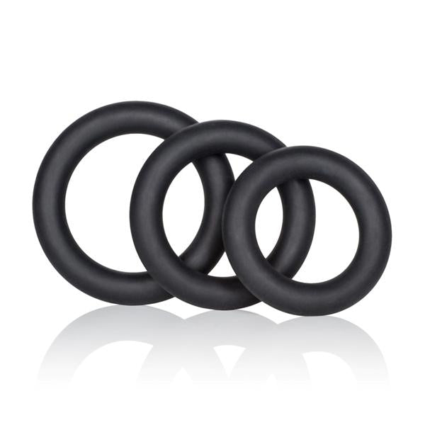 Dr Joel Kaplan Silicone Support Rings - Black Pack of 3