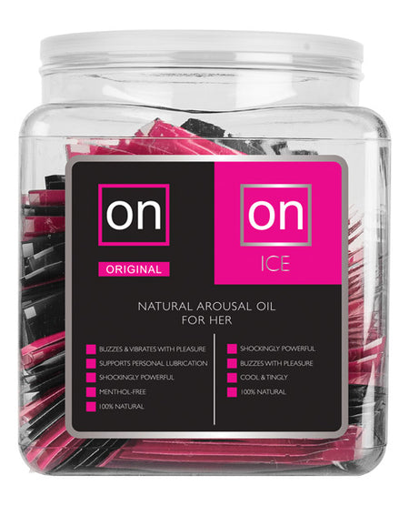 On for Her Arousal Gel Single Use Ampule Tub - Original & Ice Tub of 75
