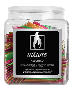 Erosense Insane Personal Moisturizing Arousal Lubricant Tub - Asst. Single Use Packet Tub of 100