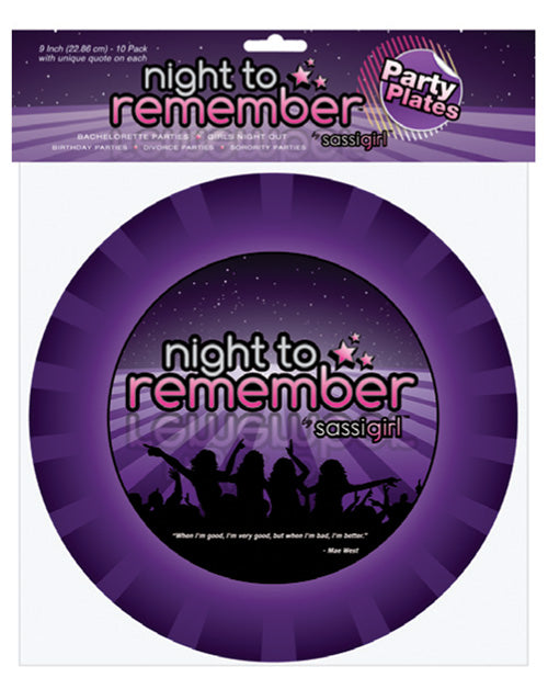 "Night to Remember 9"" Paper Plates - Pack of 8 by sassigirl"