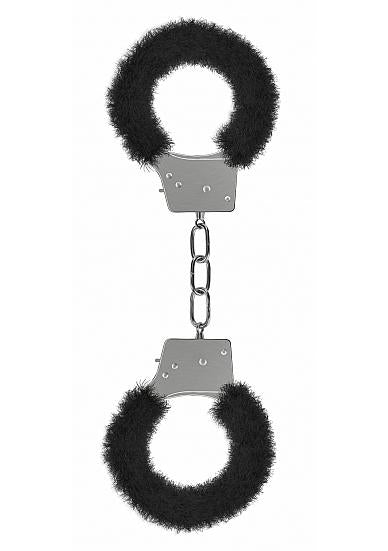 Shots Ouch Beginner's Handcuffs Furry - Black