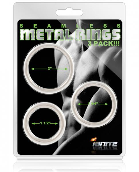 Seamless Metal Ring - Asst. Sizes Pack of 3