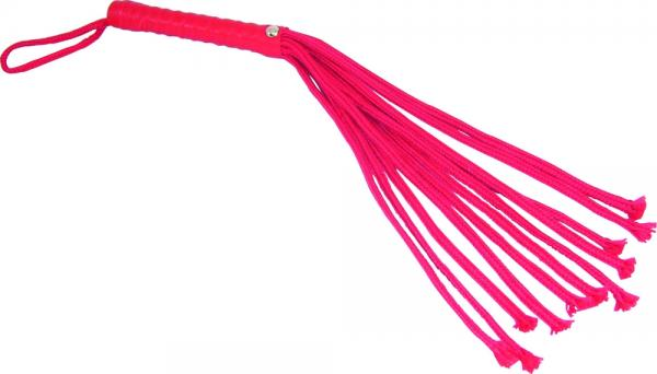 Sex & Mischief Rope Flogger - Red