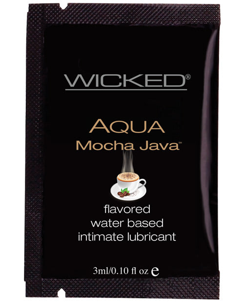 Wicked Sensual Care Aqua Waterbased Lubricant - .1 oz Packet Mocha Java