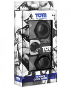 Tom of Finland Hex Nut Cock Ring Set - Set of 3
