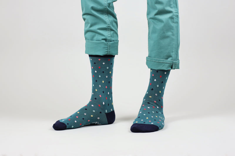 Sosete Small Dots - Hunter Green