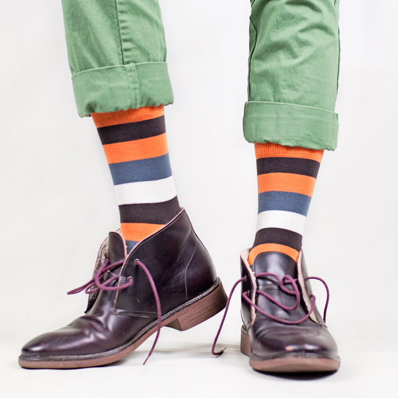Sosete Just Stripes - Orange