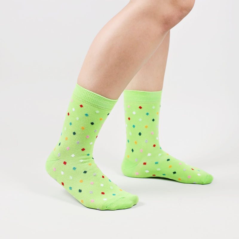 Sosete Small Dots - Bright Green