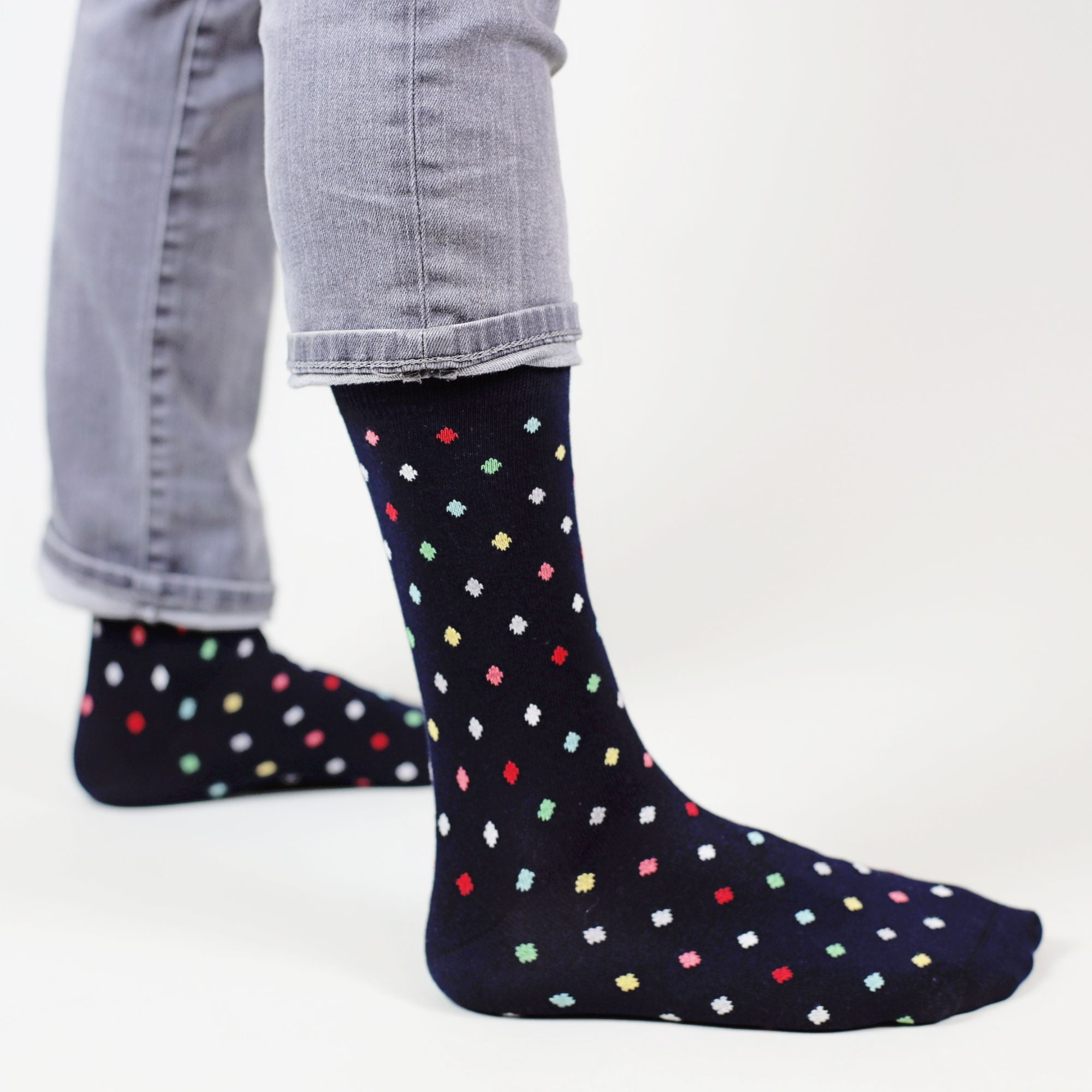Sosete Small Dots - Dark Navy