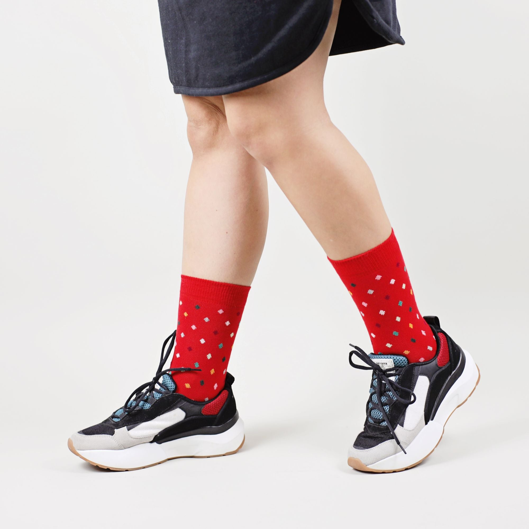 Sosete Small Dots - Red