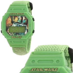 "Star Wars Kids"" Boba Fett Digital Wrap Strap Watch"
