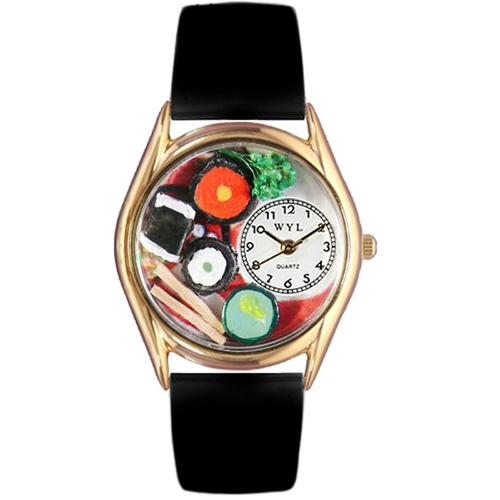 Sushi Watch Small Gold Style