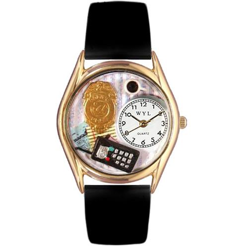 Police Officer Watch Small Gold Style