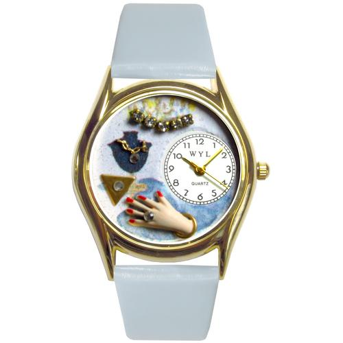 Jewelry Lover Blue Watch Small Gold Style
