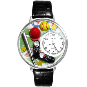 Softball Watch in Silver (Large)