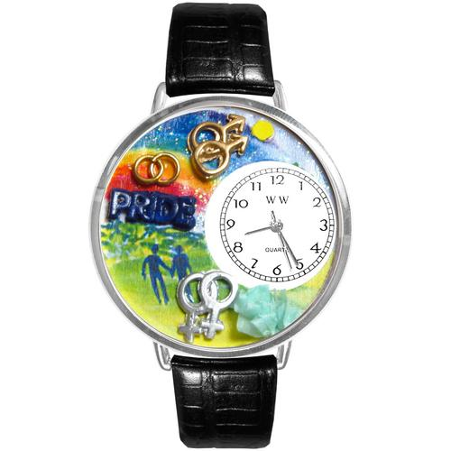 Gay Pride Watch in Silver (Large)