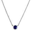 1870 Collection Necklaces and Pendants Sapphire Bezel Necklace