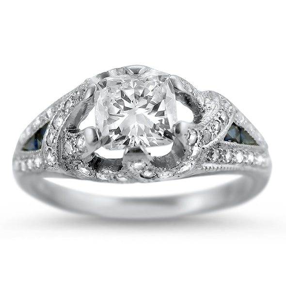 Cushion of Dreams .91ct Engagement Ring