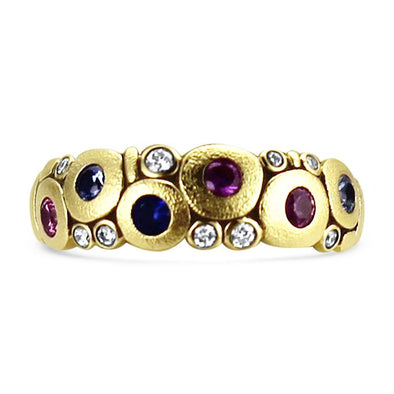Alex Sepkus Ring Candy Mixed Sapphire Ring 6.5