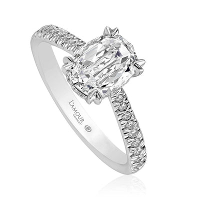 Christopher Designs Bridal Engagement Ring L'Amour Crisscut Oval 1.14cts Engagement Ring