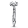 Danhov Engagement Ring FireCushion .60ct Diamond Halo Engagement Ring 6.5