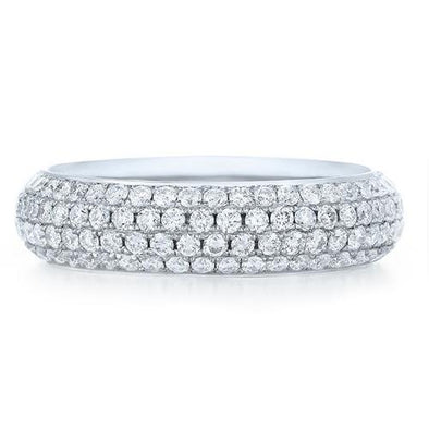 Kwiat Ring Moonlight Pave Diamond Eternity Band 6