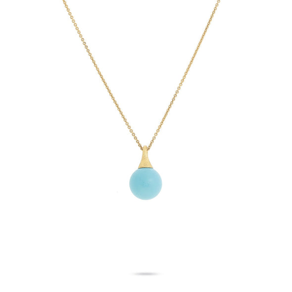 Marco Bicego Necklaces and Pendants Africa Boules Gold & Turquoise Pendant