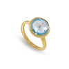 Marco Bicego Ring Jaipur Blue Topaz Medium Stackable Ring
